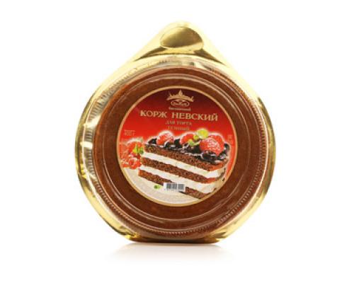 Корж Невский бисквитный для торта 3х слойный темный ТМ Виадук