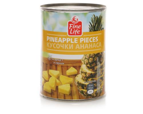 Кусочки ананаса в сиропе ТМ Fine Life (Файн Лайф)