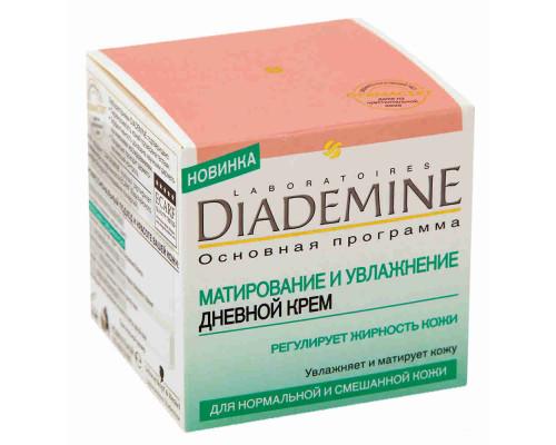 Крем д/лица Diademine матирующий дневной увлажнющий 50мл