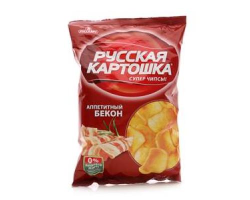 Чипсы картофельные со вкусом бекона ТМ Русская картошка