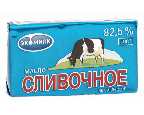 Масло сливочное Экомилк 82% 100г фольга