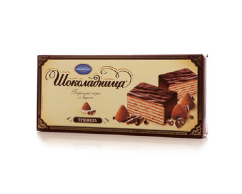 Торт вафельный шоколадница со вкусом трюфель ТМ Коломенское