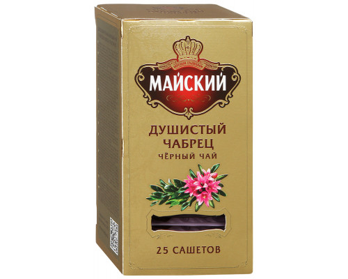 Чай черный ТМ Майский Душистый Чабрец, 25х2 г