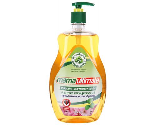 Концентрат ТМ MamaUltimate для мытья посуды и детских принадлежностей с ароматом японского абрикоса, 1 л