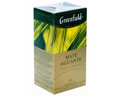 Чай зеленый ТМ Greenfield (Гринфилд), Mate Aguante 25 пакетиков