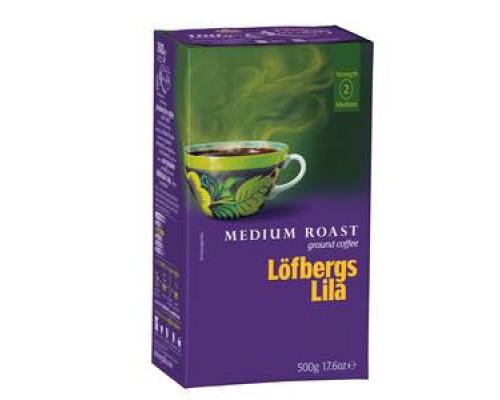 Кофе молотый Medium roast ТМ L?fbergs Lila (Лофбергс Лила)