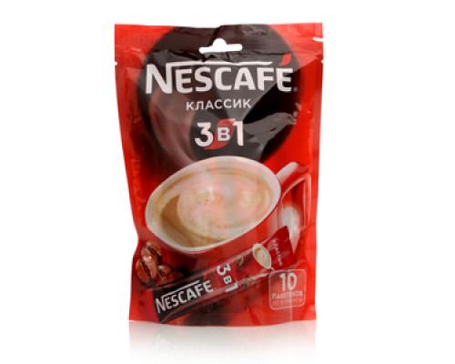 Напиток кофейный растворимый 3 в 1 классический 10 пак. ТМ Nescafe (Нескафе)
