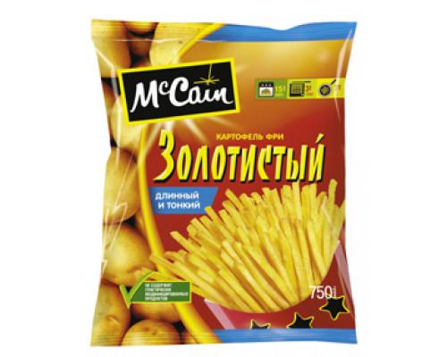 McCain (МАККЕЙН) картофель фри 'ЗОЛОТИСТЫЙ' длинный и тонкий, 750 г