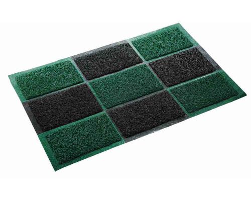 Коврик придверный Vortex придверный пористый  40x60 черно-зеленый арт20
