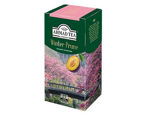 Чай черный ТМ Ahmad Tea (Ахмад Ти) Зимний чернослив, 25х1,5 г