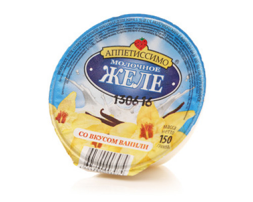 Молочное желе со вкусом ванили ТМ Аппетиссимо