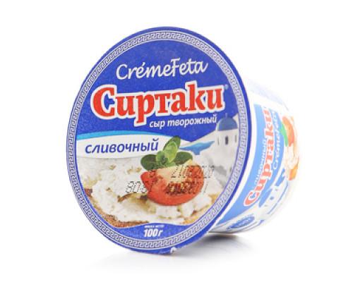 Сыр мягкий творожный Сиртаки ТМ CremeFeta (КремеФета)