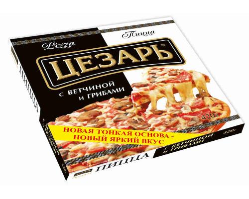 Пицца с ветчиной и грибами Цезарь 420г