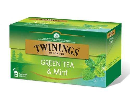 Чай зеленый ТМ Twinings (Твайнингс) с мятой, 25 пак.
