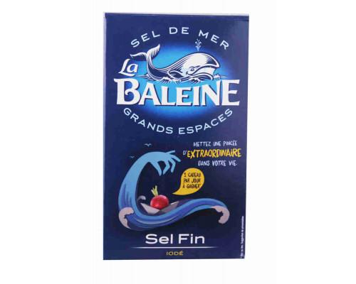 Соль морская La Baleine мелкая йодированная, 500г