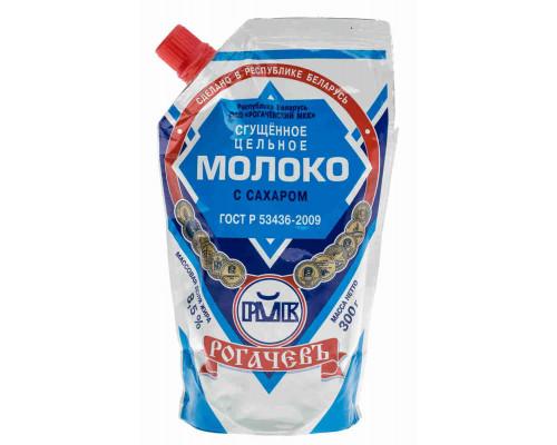 Молоко цельное сгущенное Рогачевъ с сахаром 8,5% 300г д/п