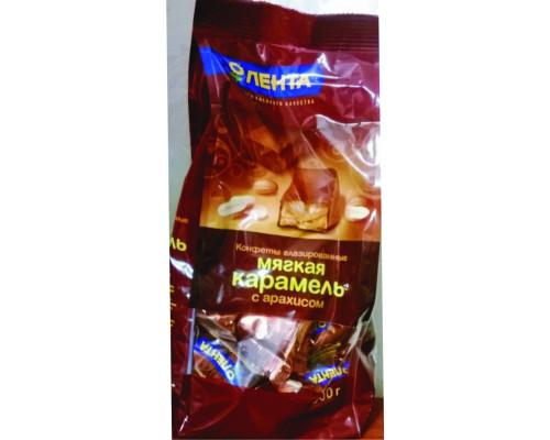 Карамель мягкая ТМ Лента, с арахисом, глазированные, 500 г