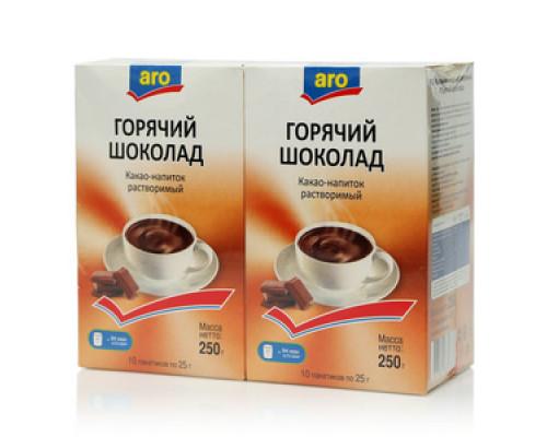 Какао растворимый Горячий шоколад 2*10*25г ТМ Aro (Аро)