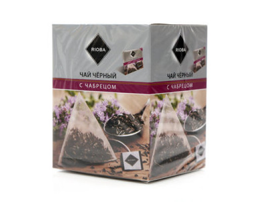 Чай черный ТМ Rioba (Риоба), с чабрецом, 20х2 г