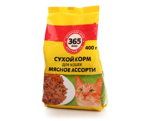 Сухой корм для кошек мясное ассорти ТМ 365 дней