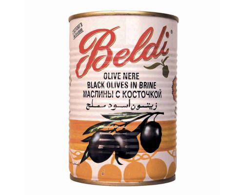 Маслины чёрные Beldi с/к 185г ж/б