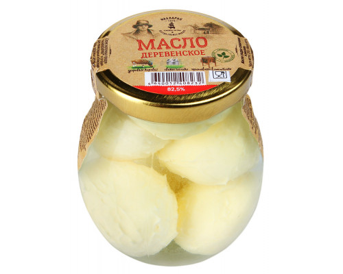 Масло сладко-сливочное ТМ МакЛарин Деревенское в рассоле, 82.5%, 250 г