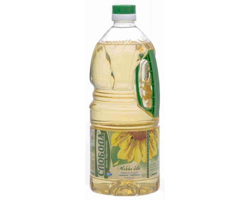 Масло подсолнечное Слобода рафинированное дезодорированное 1,8л