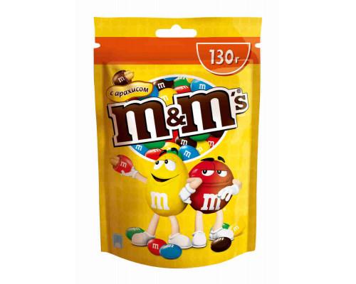 Драже Mars M&M`s с арахисом и молочным шоколадом 130г