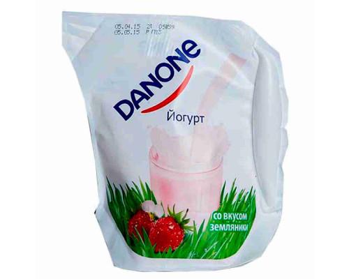 Йогурт питьевой Danone земляника 1,5% 900г ecolean