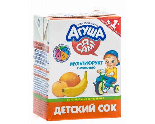 Сок Агуша мультифрукт с 6мес 200мл т/п