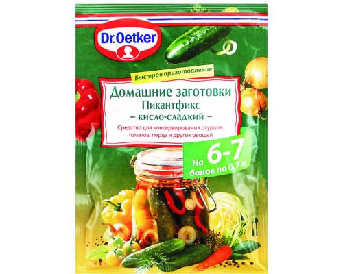 Приправа для консервирования ТМ Dr. Oetker (Доктор Оеткер) Домашние заготовки, Пикантфикс кисло-сладкий, 100 г