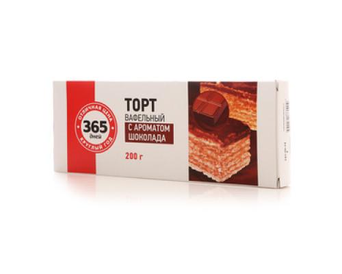 Вафельный торт с ароматом шоколада ТМ 365 дней