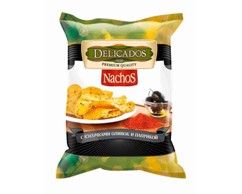 Чипсы кукурузные Nachos оливки/паприка, 75г