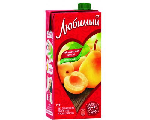 Напиток сокосодержащий ТМ Любимый Абрикосовая груша, 1,93 л