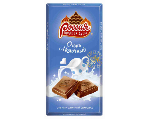 Шоколад ТМ Россия, молочный Нестле Россия 90 г