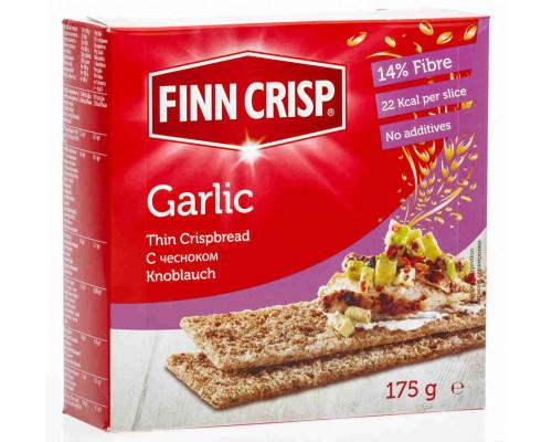 Сухарики ТМ Finn Crisp (Финн Крисп), Ржаные с чесноком 175 г