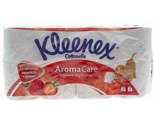 Туалетная бумага Kleenex клубника 3сл 8рул