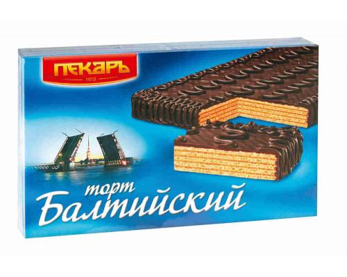 Торт вафельный Пекарь Балтийский глазир 320г