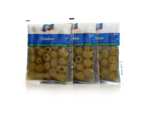 Оливки зелёные без косточки 3*160г ТМ Aro (Аро)