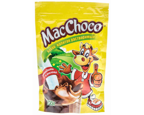 Какао-напиток MacChoco растворимый 235г