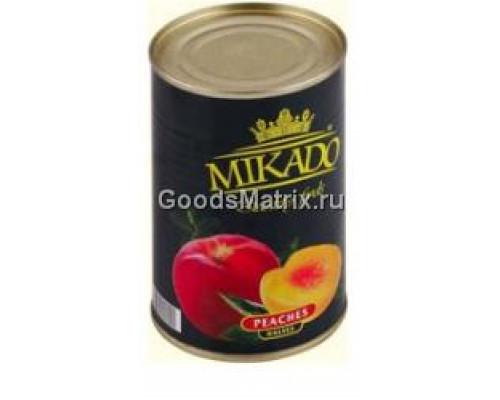 Персики ТМ Mikado, половинки очищенные, в сиропе, 425 мл