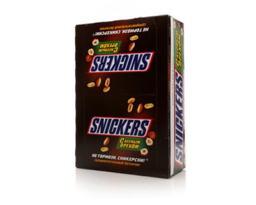 Батончик шоколадный с лесным орехом ТМ Snickers (Сникерс)