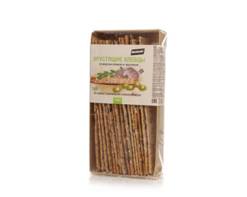 Хлебцы хрустящие с оливками и чесноком ТМ Blockbuster (Блокбастер)