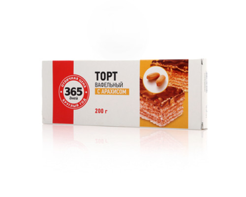 Торт вафельный с арахисом ТМ 365 дней
