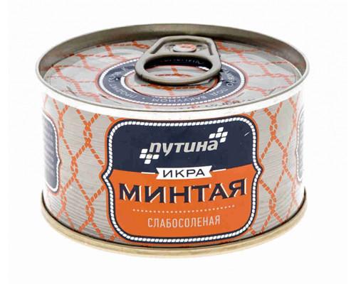 Икра минтая Путина пробойная соленая 130г ж/б