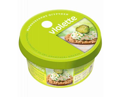 Сыр творожный Виолетта с огурцами и зеленью 70% Карат п/кор 140г