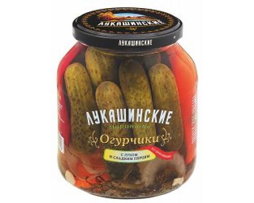 Огурчики по-домашнему ТМ Лукашинские, со сладким перцем, 670 г