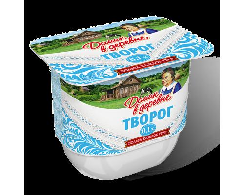 Творог ТМ Домик в деревне, мягкий, 0,1%, 200 г