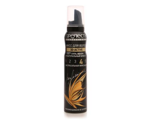 Мусс для волос 3D-актив экстрасильная фиксация ТМ Прелесть