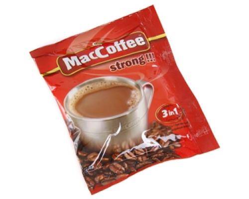 Кофейный напиток ТМ Maccoffee (МакКофе) strong 3в1, 16 г